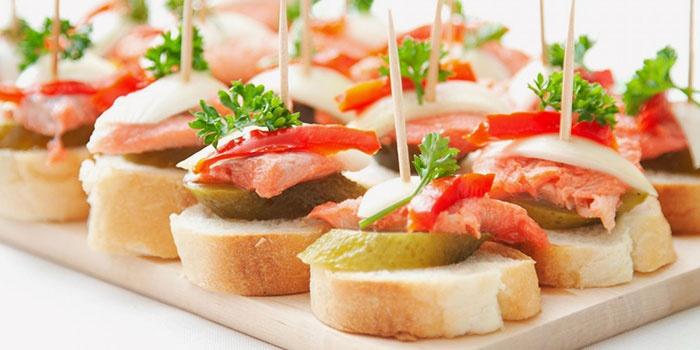 оригинальные бутерброды для романтического ужина
