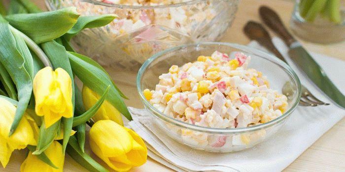 салаты простые из кукурузы