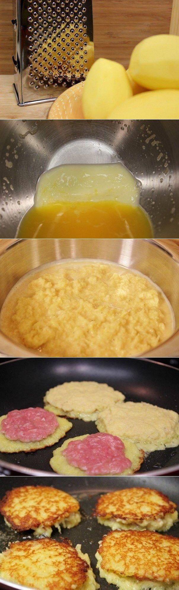 Рецепт как сделать драники с фаршем рецепт с фото