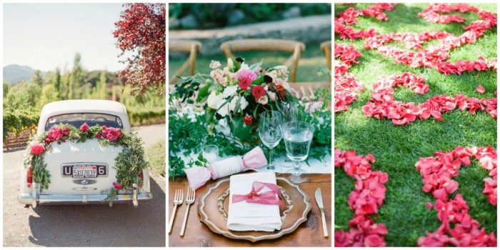 оформление свадьбы цветами в 2018 году