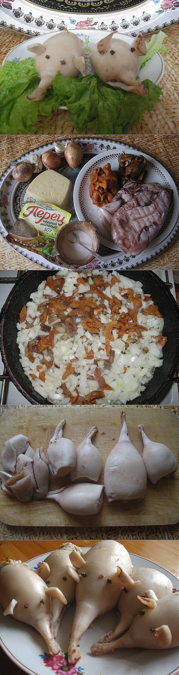 рецепты блюд из кальмаров - фаршированные 2