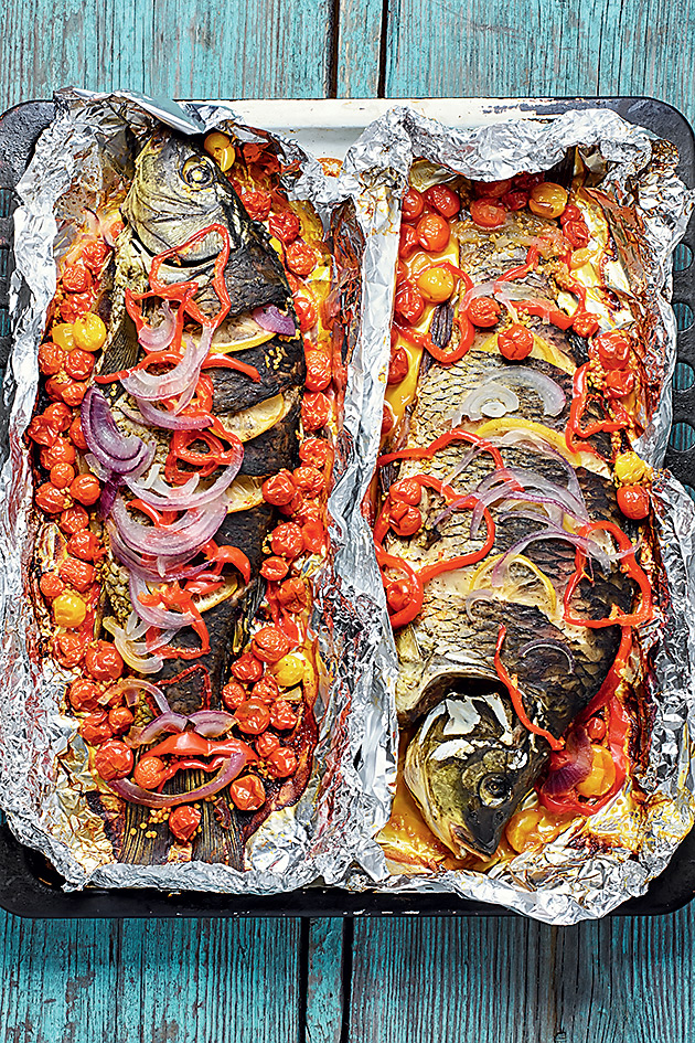 судак запеченный в духовке в фольге целиком рецепт с фото пошагово