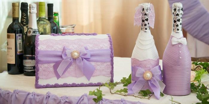 мастер-класс: украшение бутылок шампанского на свадьбу своими руками