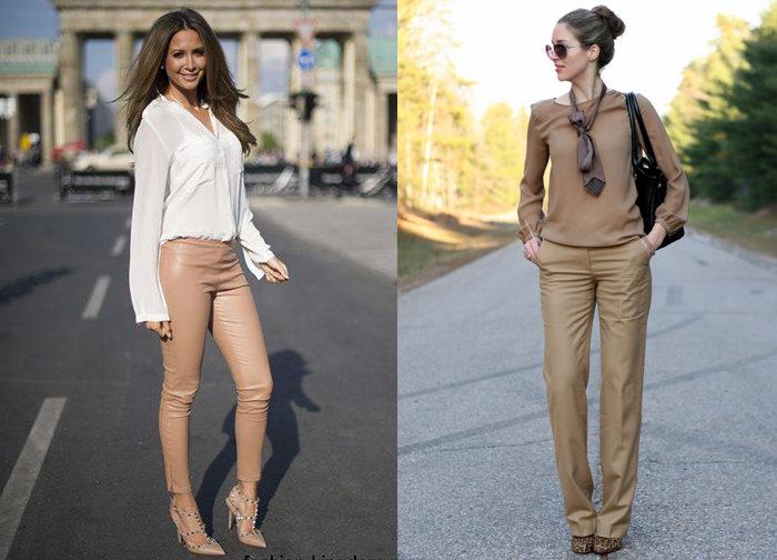 позолоченная кожа для женских кожаных брюк