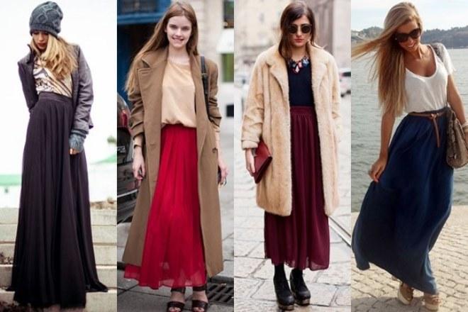 модные макси-юбки весна-лето 2018 тенденции и тренды на фото 3