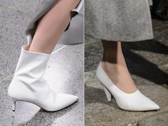 модные белые туфли 2018 фото