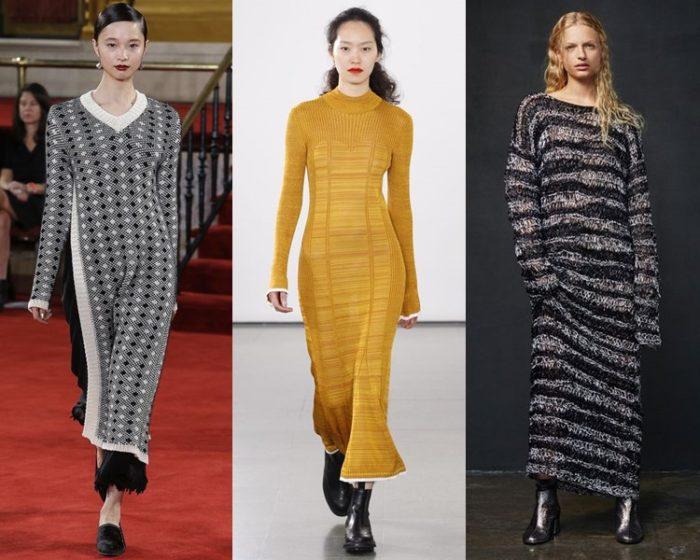 модные трикотажные платья весна-лето 2018