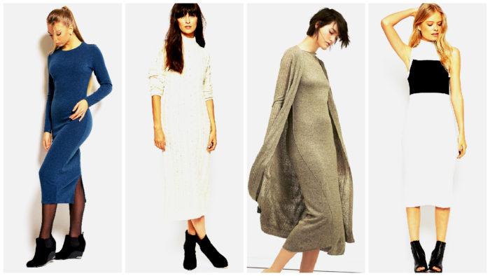модные трикотажные платья весна-лето 2018 в романтическом стиле, фото