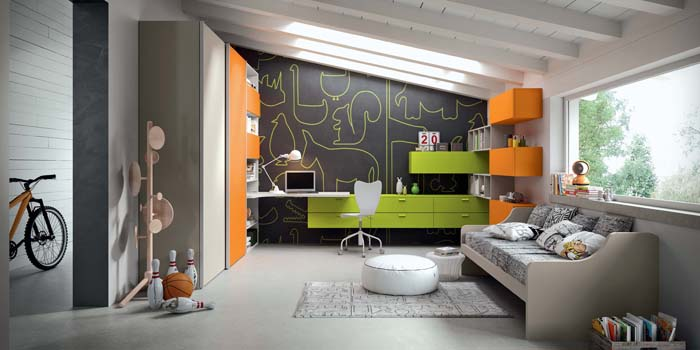 несколько фото дизайна детской комнаты для подростка 3
