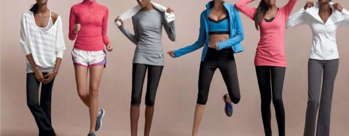 модная женская одежда для фитнеса 2018