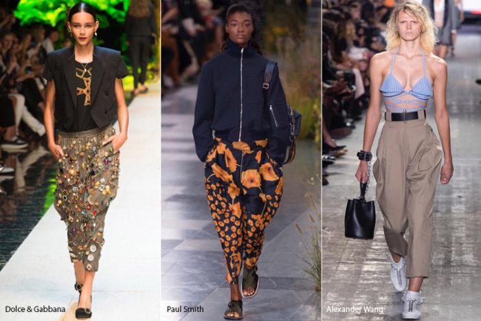 модные фасоны летних брюк 2018 на фото 1