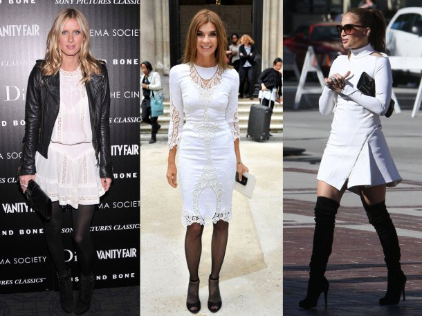 с чем носить белое платье 2018, модные тенденции и тренды на фото 2