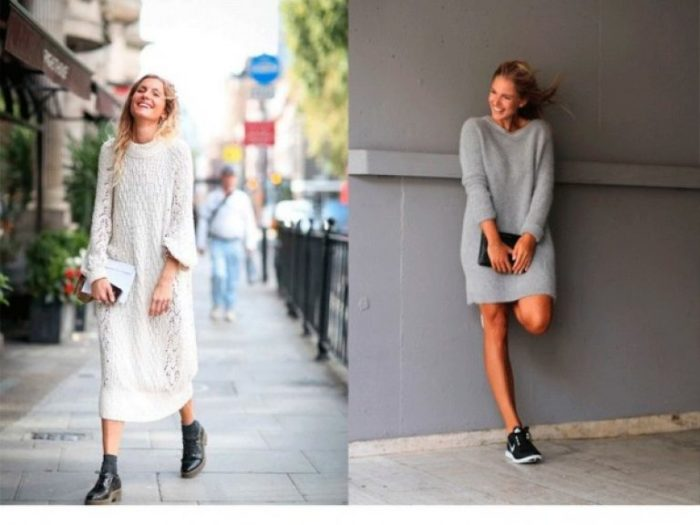 вязаные платья весна-лето 2018 модные тенденции и тренды на фото