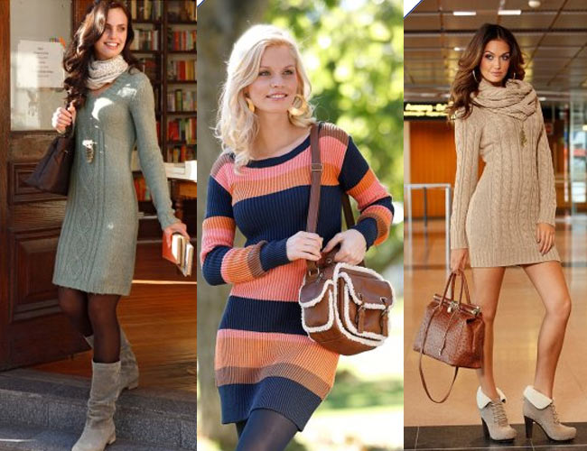 с чем носить модное вязаное платье в сезоне весна-лето 2018 фото 2