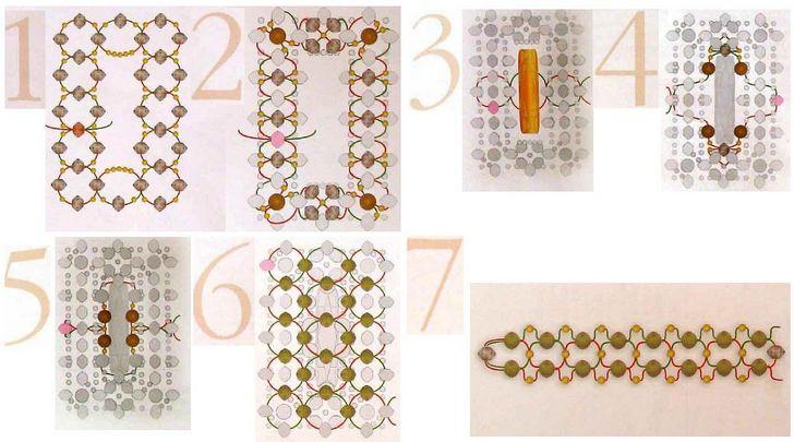 бижутерия из бисера своими руками со схемами для начинающих 1