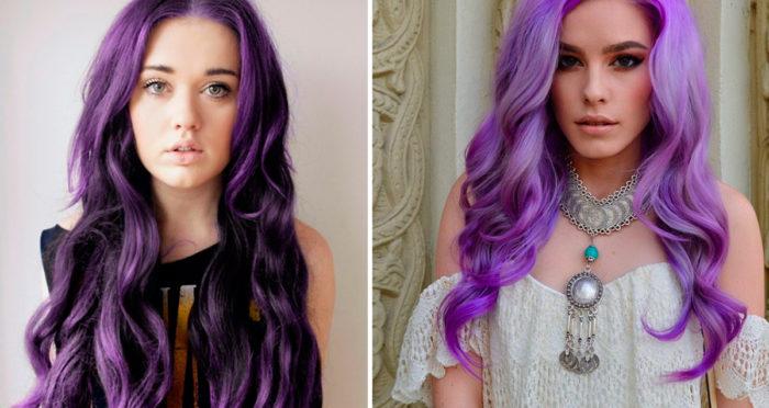 фиолетовая краска для волос 2018 фото
