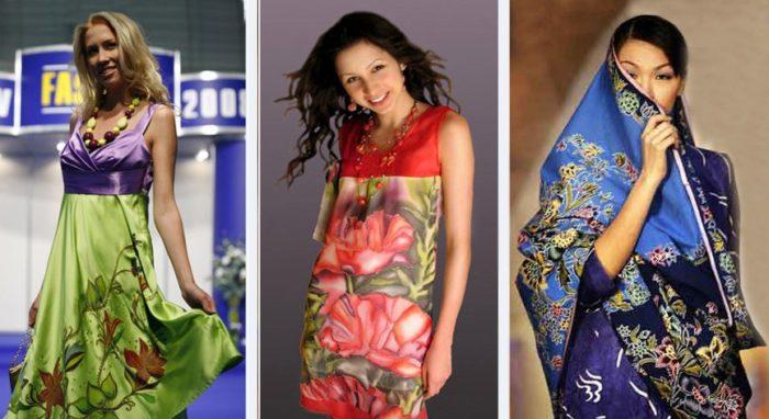 модные платья батик 2018
