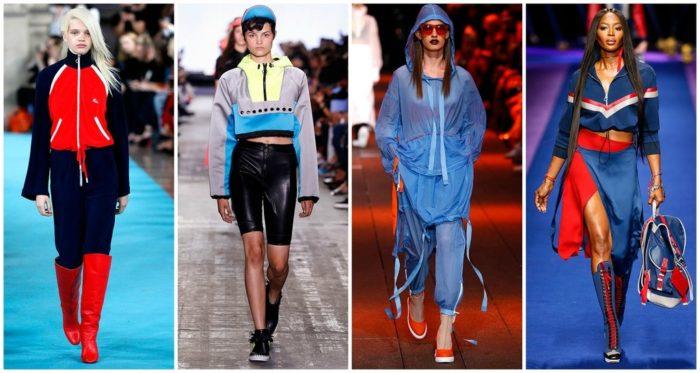 спортивный стиль одежды для девушек и женщин 2018, модные тенденции и тренды на фото 5
