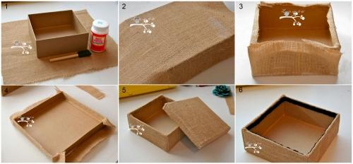 декорирование коробок из под обуви своими руками