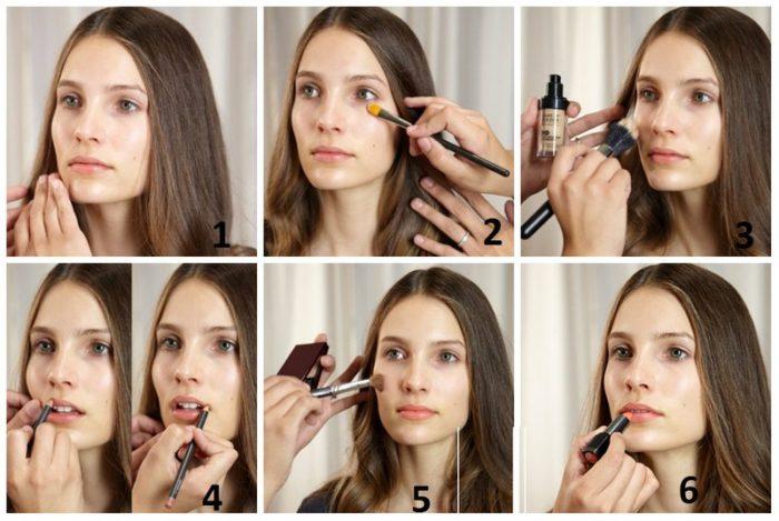 пошаговая инструкция натуральный макияж на каждый день 2018