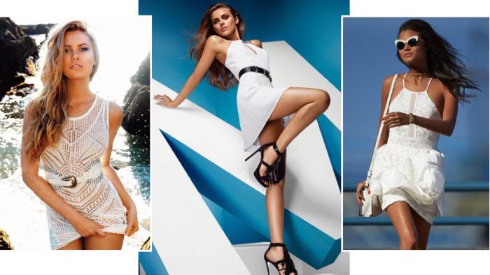 с чем носить белые платья 2018