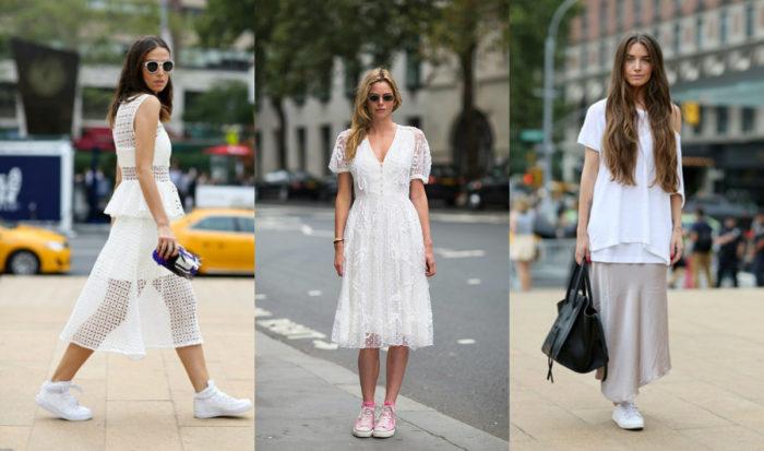 с чем носить белые платья фото 1