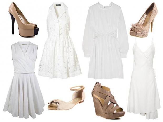 с чем носить белые платья фото 5