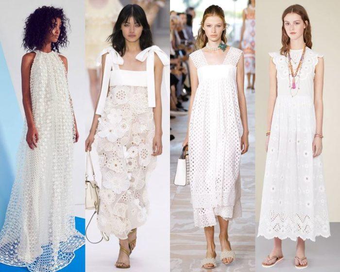 модные белые платья 2018, тенденции и тренды на фото 4