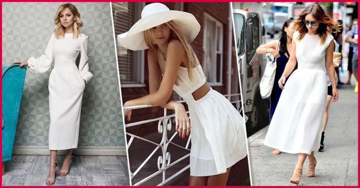 дизайнерские и брендовые платья белого цвета 2018 фото 2