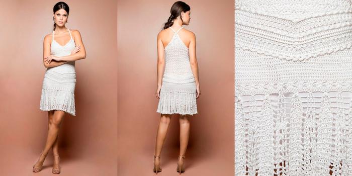 летнее платье крючком для женщин со схемами