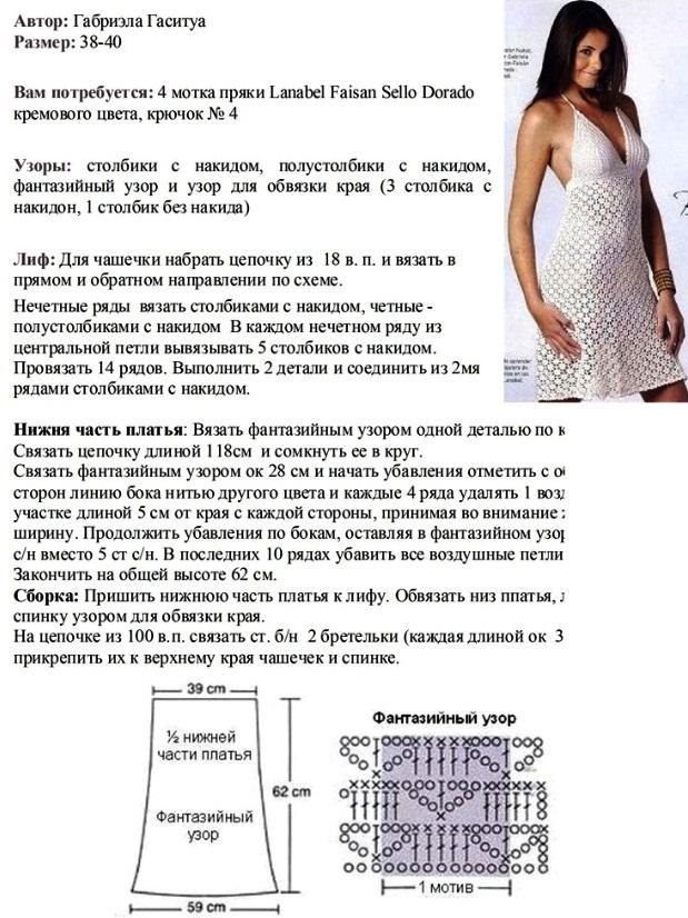 подкладка для вязаного платья 1