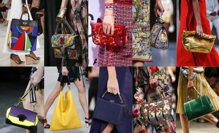 модные летние сумки 2018, цветовая гамма