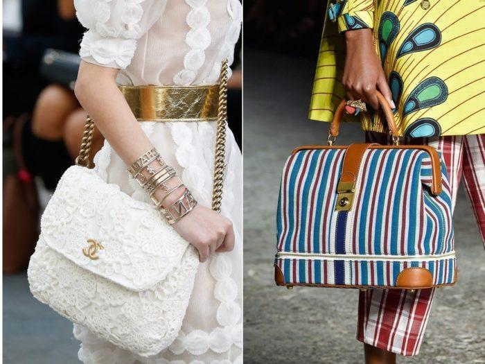 летние сумки 2018, фото модных тенденций 1