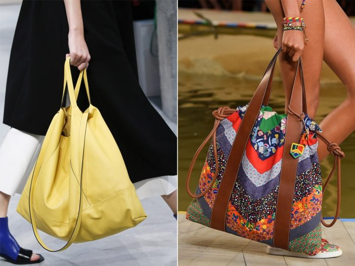модные тенденции на пляжные сумки лето 2018