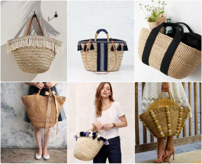 одные пляжные сумки лето 2018, тенденции и тренды фото 2