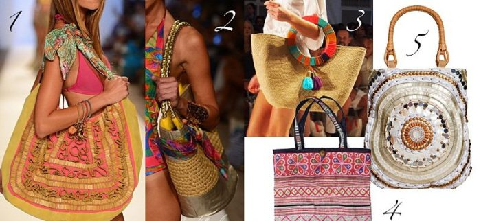фасоны модных сумок для пляжа на лето 2018