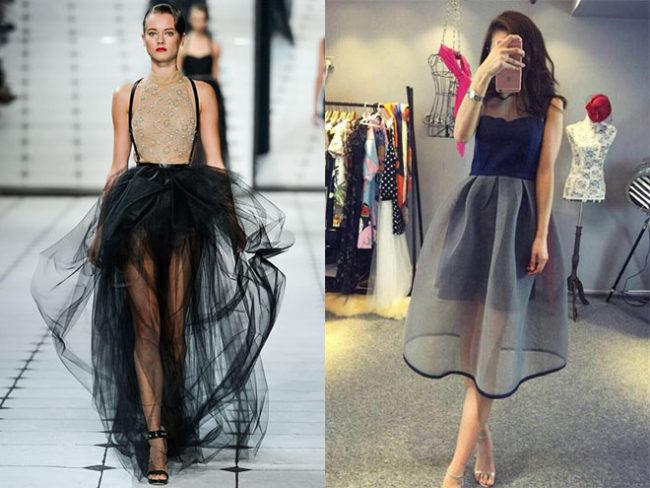 длинные прозрачные юбки фото 4