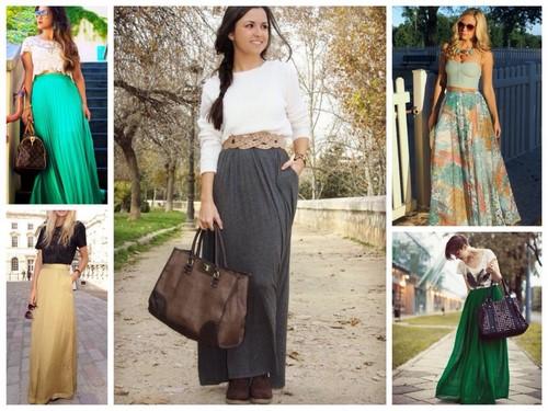 модные и красивые макси-юбки лето 2018 фото 4