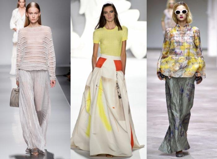 модные тенденции и тренды на летние юбки-макси 2018, фото 1