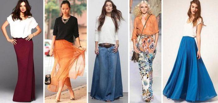модные тенденции и тренды на летние юбки-макси 2018, фото 3