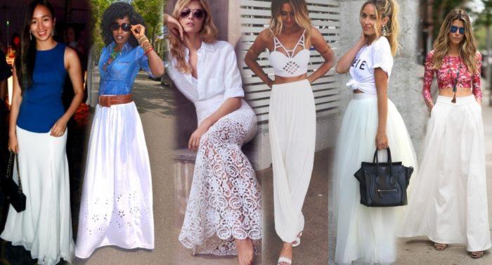 длинные белые юбки фото 1