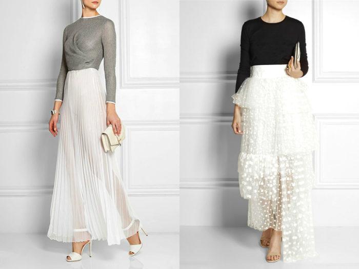 длинные белые юбки фото 2
