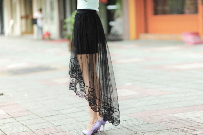 длинные прозрачные юбки фото 1
