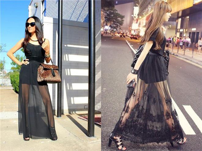 длинные прозрачные юбки фото 2