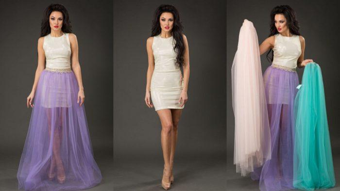 длинные прозрачные юбки фото 3