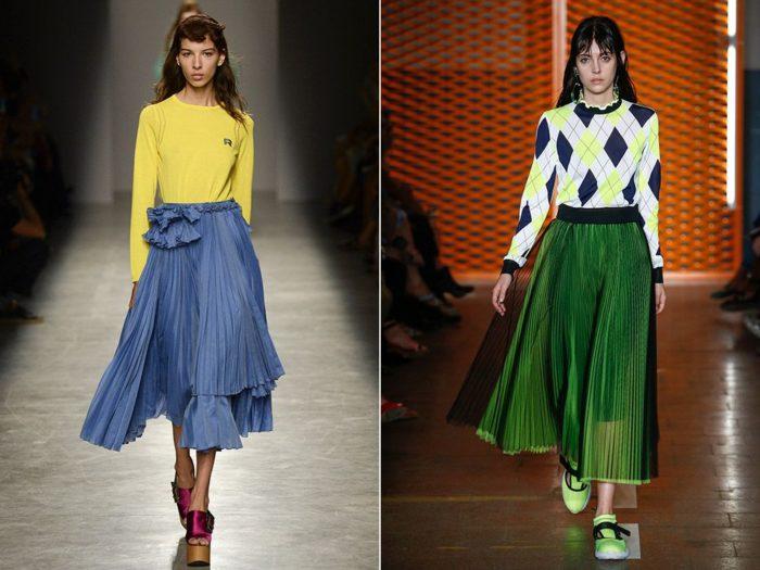 макси-юбки 2018, модные тенденции и тренды на фото 3