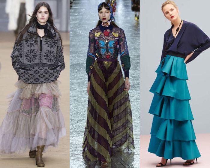 макси-юбки 2018, модные тенденции и тренды на фото 4