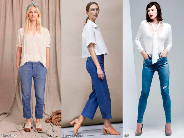 модные джинсы лето 2018, тенденции и тренды на фото 3