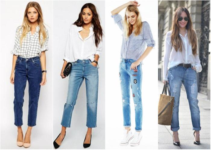 с чем носить модные фасоны летних джинсов 2018 2
