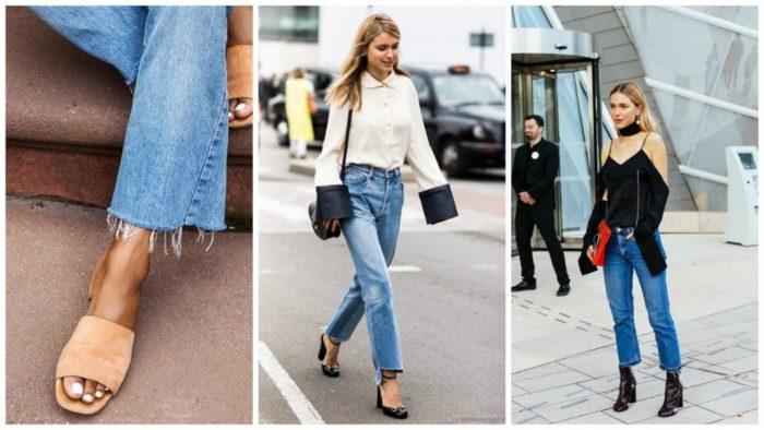 с чем носить модные фасоны летних джинсов 2018 4